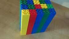 Lego 100% DUPLO Large Lot of 150 Blocks Assorted Colors ALL 2x2 peg