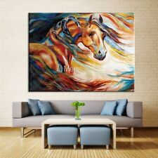 Modern Abstract Hand-painted Crying Horse Oil Painting on Canvas 60cmx80cm