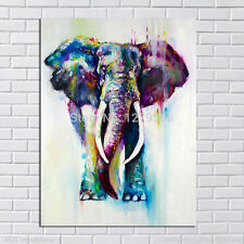 Hand Painted Color Animals Elephant Oil Painting on Canvas 60cmx90cm