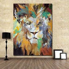 HandPainted Modern Abstract Oil Painting on Canvas:Pop Art Lion 60cmx90cm