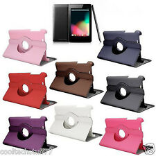 For Google Nexus 7(2012)Tablet 360 Degree Sleep Wake 360 PU Leather Case Cover