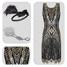 20's 1920's Vintage Flapper Gatsby Charleston Party Cocktail Prom Mini Dress