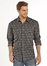 ROCK & ROLL COWBOY MEN'S LONG SLEEVE PAISLEY WESTERN SNAP UP SHIRT B2S8413