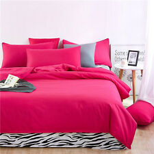 Rose Red Single Queen King Size Zip Bed Set Pillowcase Quilt Duvet Cover Zebra L