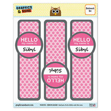Set of 3 Glossy Laminated Bookmarks - Hello My Name Is Si-Sy