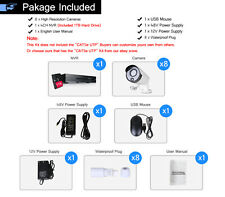 960P POE 8CH CCTV NVR IP Network Home Security Camera System 1.3MP Video 1TB