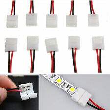 8/10mm PCB Connector Adapter for 3528 5050 Single Color LED light to Strip 10PCS