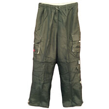 Mens green Cargo Double Zip-Off Pants Convertible to Shorts and Capris