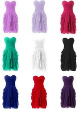 Mini Chiffon Strapless Homecoming Dress Graduation Cocktail Party Evening Dress