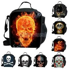 INSULATED TRAVEL BBQ PICNIC COOLER FOOD DRINK LUNCH BAG CARRIER SKULL PICK
