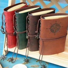 Vintage Classic Retro Leather Journal Travel Notepad Notebook Blank Diary Hot CC