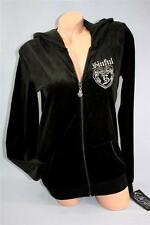 SMALL AFFLICTION SINFUL VELOUR REFLECTION EMBROIDERED BLACK SWEATSHIRT NWT