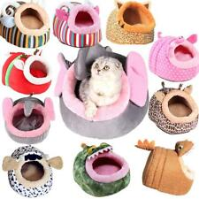 Pet Dog Cat Bed Puppy Cushion House Cute Animal Soft Warm Kennel Mat S-L