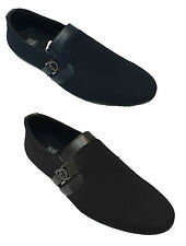 New Men Slip On Synthetic Fabric Comfortable Loafers Shoes UK Size 6 7 8 9 10 11