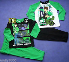 Boys - 2 pack - Ben 10 - Pjs Pyjamas - Boys - Select Size 3, 4, 5