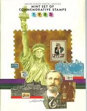 1985 US Postal Service Mint Set of Commemorative Book Complete with Stamps