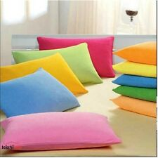 Wholesale 1000TC 2PC Ultra Soft Pillow Cases/Shams Solid 100% Cotton All Color