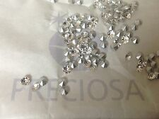 Preciosa Czech Diamante Chatons silver foiled 4.9 to 7.mm CRAFT Post Free