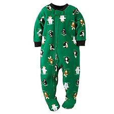NWT BOYS CARTER'S PAJAMAS FLEECE FOOTED SLEEPER holiday XMAS   5T