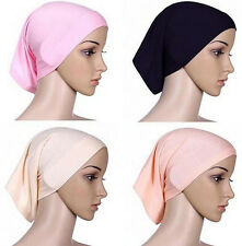 Headwrap Muslim Islamic Cover Hijab Underscarf Bonnet Head Scarf Cotton Women