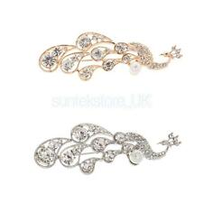 Women Crystal Brooch Pin Rhinestone Peacock Brooches Starfish Fashion Jewelry
