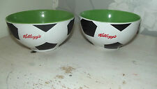Rare Collectable Kelloggs Football Cereal Bowl with football inside at base X 2