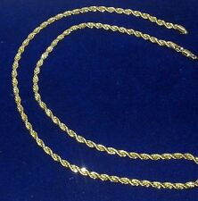 """Men 24"""" Rope Chain Necklace 4 mm Real 14k Yellow Gold Plated 24 Inches"""
