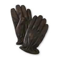 Dockers Mens Gloves Genuine Leather Sherpa lined black solid size M L XL NEW
