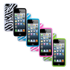 Rubber Zebra Design Hard Rubberized Cover Case Skins for Apple iPhone 5 5S