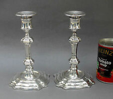 Pair of Vintage Silver Plated Candlesticks ~ James Dixon Sheffield / English