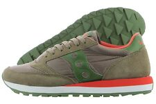 Saucony Jazz Original S2044-371 Light Brown Green Suede Nylon Shoes Medium Men