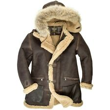 Cockpit USA B-7 Aleutian WWII Sheepskin Parka Brown USA Made