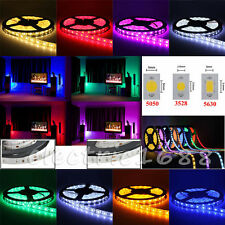5/10/20M 3528 5050 5630 RGB/White Leds SMD LED Strip Light Flexible DC 12V