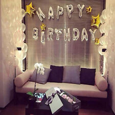 16 Inch Happy Birthday Letters Foil Inflatable Balloons Air Balloons Party 13PCS