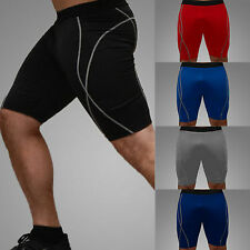 Mens Compression Shorts Baselayer Athletic Skins Pants Bottoms Sports Trousers