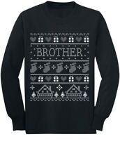 Funny Brother Ugly Christmas Sweater Toddler/Kids Long sleeve T-Shirt Gift
