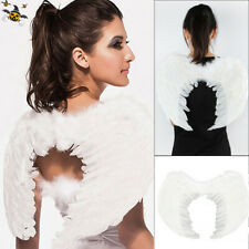 White Costume Feather Wings Fairy Angel cosplay props Christmas Fancy Dress halo