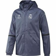adidas Mens Gents Football Real Madrid UCL Training All Weather Jacket - Purple