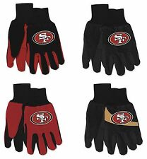 Brand New NFL San Francisco 49ers No Slip Grip Utility Work Gardening Gloves