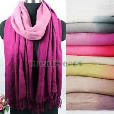 Fashion Women's Gradient Pashmina Warm Scarf Wrap Shawl Tassel Oblong Stole