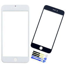 New Front LCD Outer Screen Glass Lens Replacement +Tools For iPhone 6 6S Plus