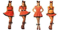 Sexy Women Halloween Minnie Red Mouse Fancy Dress Costume Outfit 6-16