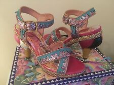 Irregular Choice Ninety Nine Ice Cream Heels RARE Pink/Blue Glitter 5/38 BNIB
