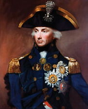 100% Hand-painted Portrait Abstract Art Oil Painting on Canvas,ADMIRAL NELSON I