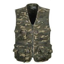Men Multi Pocket Camouflage Fly Fishing Vest Outdoor Waistcoat Travel Zip Jacket