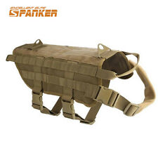 Molle K9 Dog Vest Harness Canine Training Vest Tactical Military Army Police