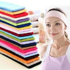 New 14 Colors Sweatband Terry Cloth Cotton Headbands Yoga/Gym/Workout Sweatbands
