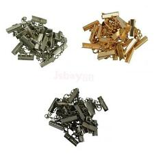 12x Crimp Clasps Clips Ends with Necklace Lobster Clasp Extender Chain Findings