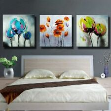 Handpainted Modern Abstract Flower Oil Painting on Canvas 50x50cmx3pc