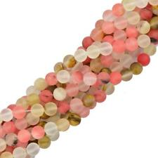 15'' Round Frost Watermelon Tourmaline DIY Jewelry Findings Loose Beads 4/6/8mm